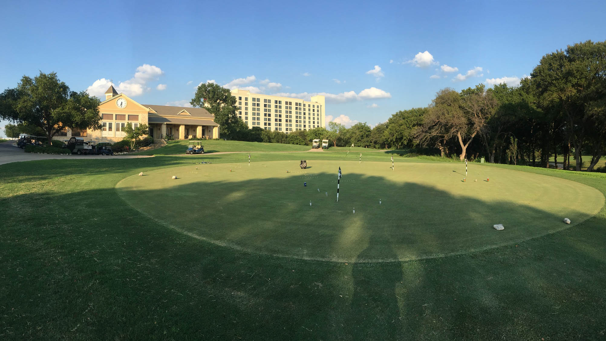 The practice area at The Golf Club at Champions Circle