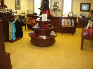 Interior view of the pro shop at The Golf Club at Champions Circle