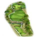 Overview of hole 13